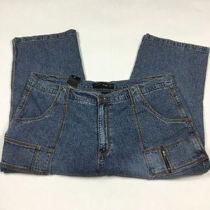 NEW Venezia Cropped Jeans Women's Plus 24
